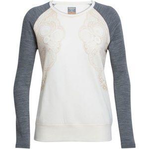 ICEBREAKER Merino Wool Zoya Zen Sweatshirt L